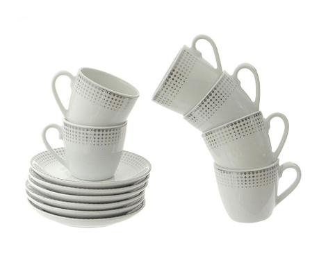 Сервиз 6 чашки и 6 чинийки Brenda Silver