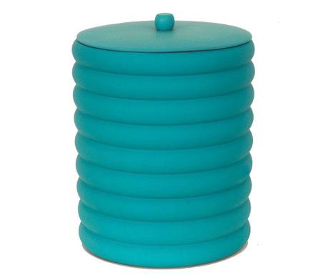 Кош за отпадъци с капак Waves Turquoise 5 L