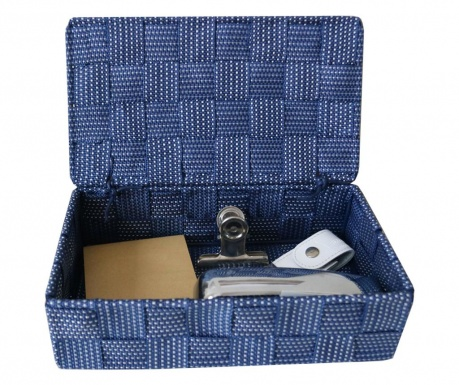 Škatla s pokrovom Blue Grey Spotted
