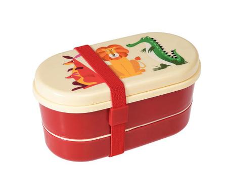 Set kutija za užinu i  2-dijelni pribor za jelo Colourful Creatures