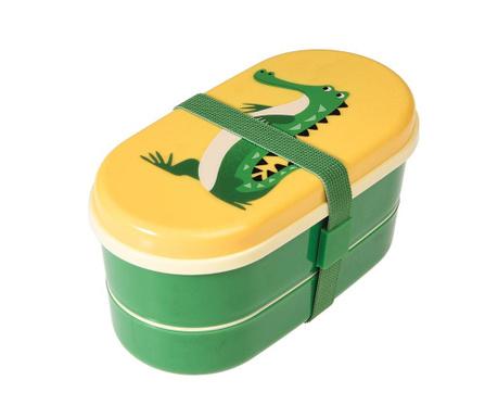Set kutija za užinu i  2-dijelni pribor za jelo Harry the Crocodile