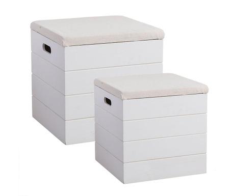 Set 2 shranjevalnih škatel Clarice