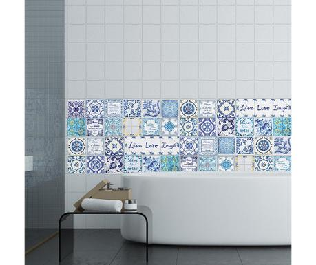 Комплект 24 стикера Blue Mosaic