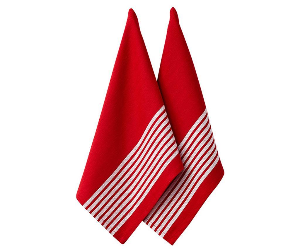 Set 2 kuhinjskih brisač Butcher Red 45x70 cm