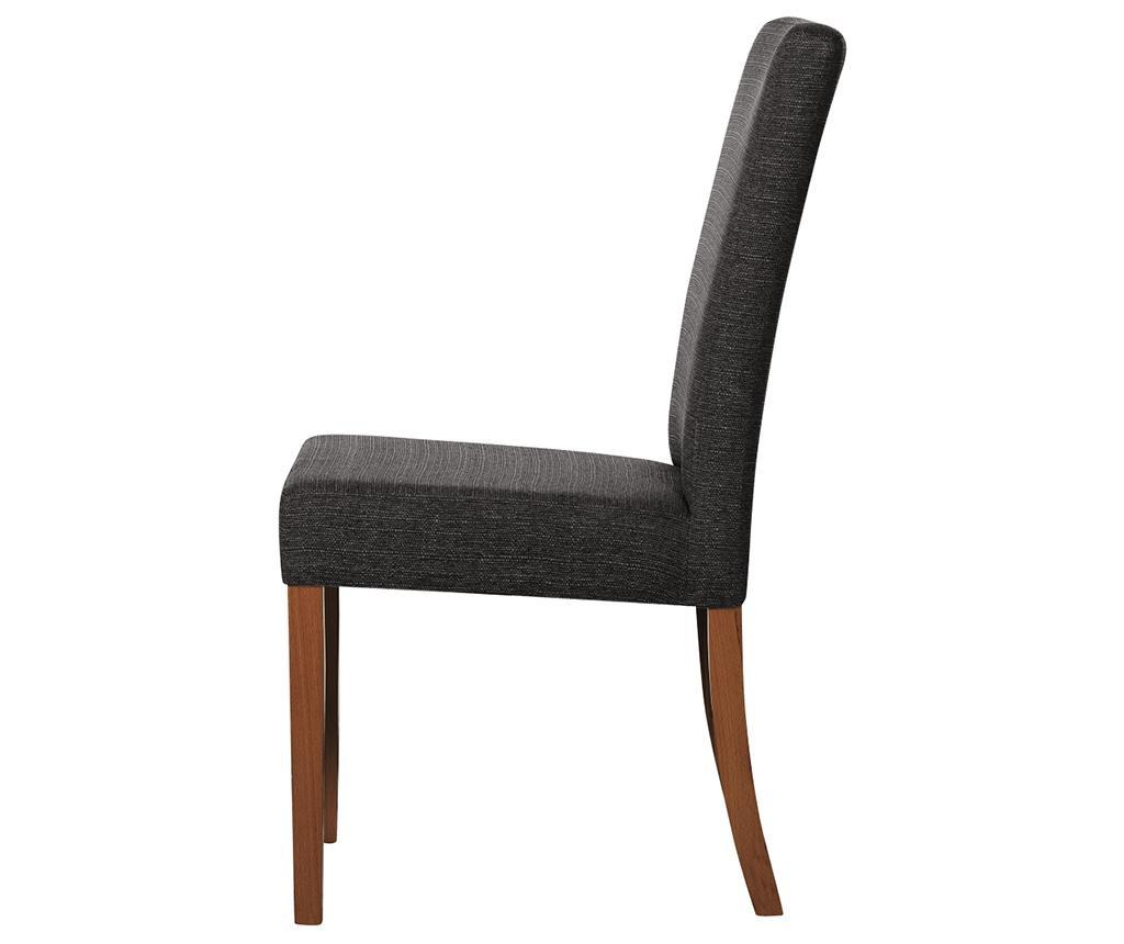 Set 4 scaune Tonka Brown Anthracite