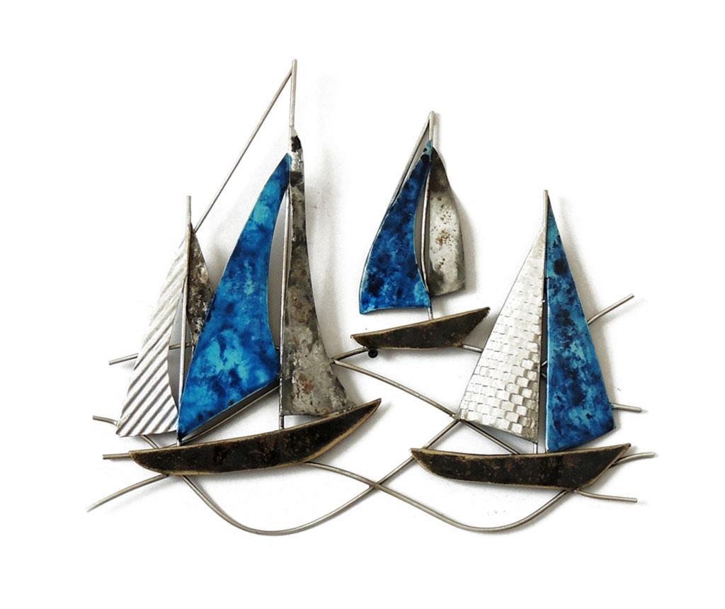 Stenska dekoracija Beaux Arts Racing Boats Grey Blue