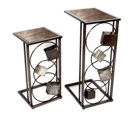 Set 2 držača za posude za cvijeće Art de Fer 3D Cubes