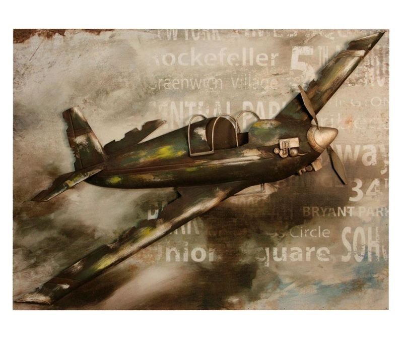 Nastěnná dekorace Gallery Vintage Plane