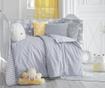 Zaščita za otroško posteljico Clouds Grey 40x210 cm