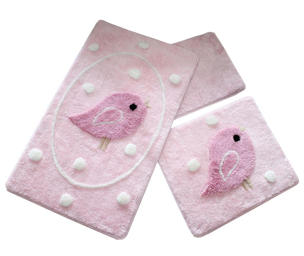 Birdie  Pink 3 db Fürdőszobai szőnyeg