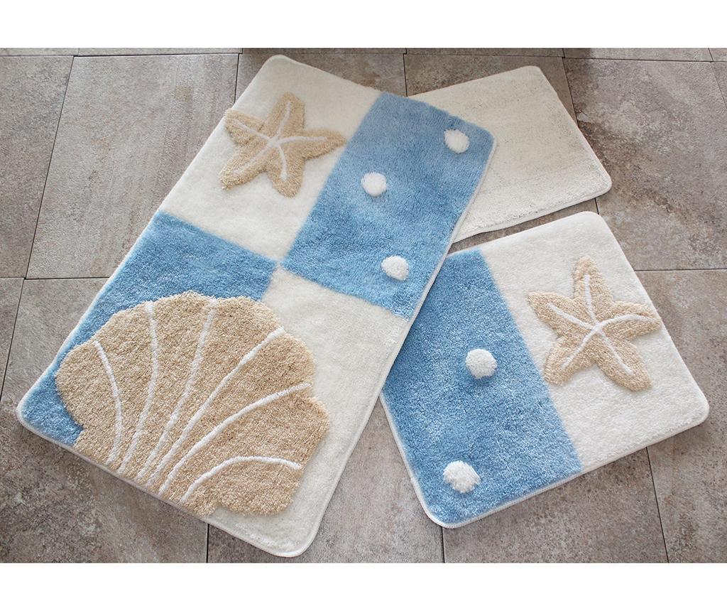 Deniz Yildizi  Blue 3 db Fürdőszobai szőnyeg