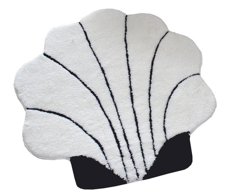 Covoras de baie Shell  Ecru 90x90 cm