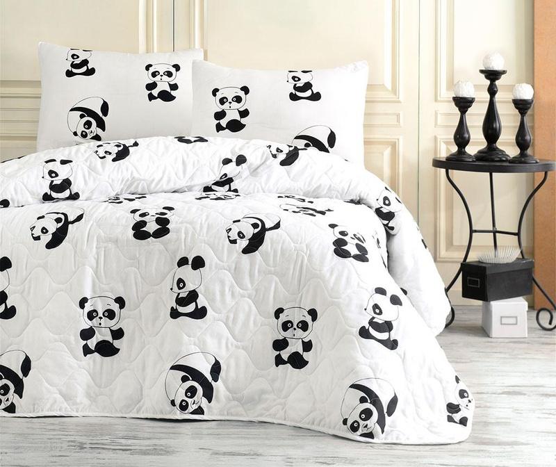 Set cuvertura matlasata Double Panda