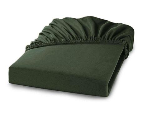 Долен чаршаф с ластик Percale Loryn Dark Green