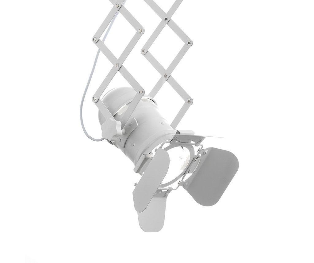 Závěsná lampa s nastavitelným ramenem pantograf Extension White