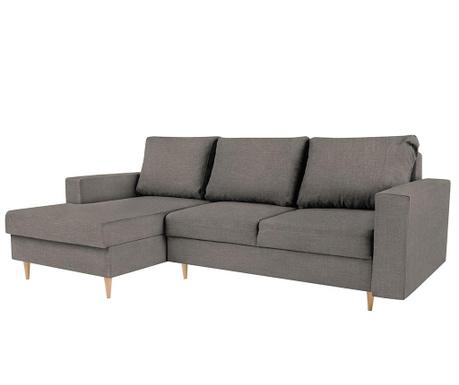 Разтегателен ляв ъглов диван Iris Dark Grey