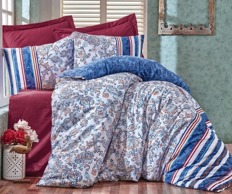 Спално бельо King Ranforce Lorisa Blue