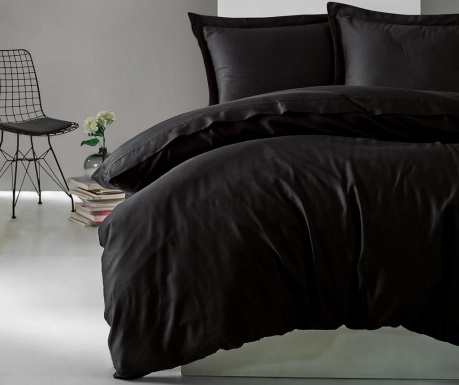 Posteljnina King Sateen Supreme Elegant Black