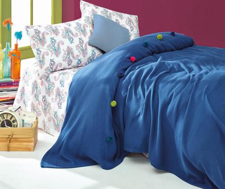 Спално бельо Single Ranforce Pique Fancy Navy Blue
