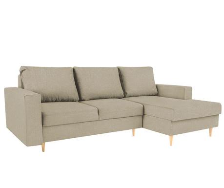 Разтегателен десен ъглов диван Iris Beige