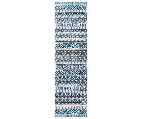 Tepih Kamala Ivory Blue Runner 66x229 cm