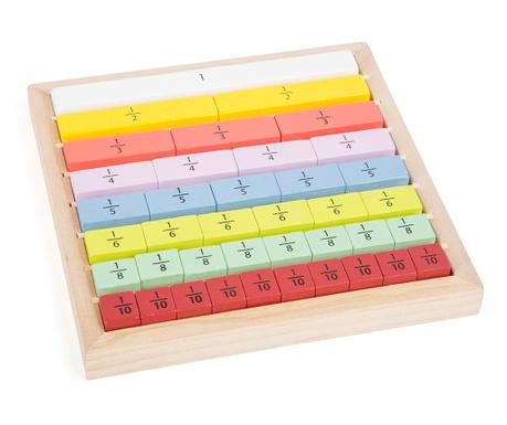 Gra edukacyjna 40 elementów Fractions Educate