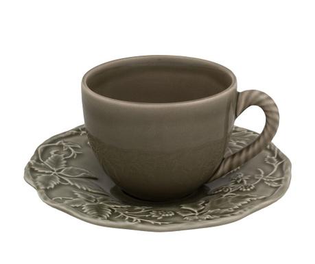Set - skodelica in krožniček Artichoke Tea Dark Grey
