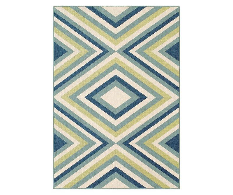 Килим Rombi Blue & Green 160x230 см