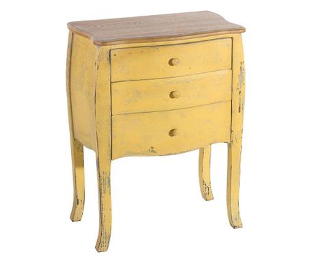 Stolik z 3 szufladami Colaba Yellow