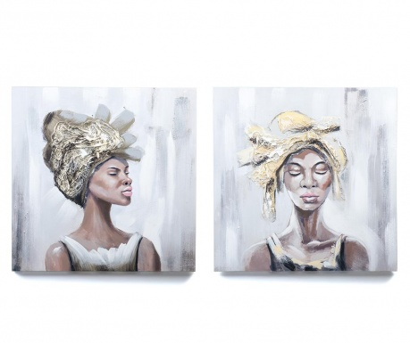 Set 2 slike African Beauty 60x60 cm
