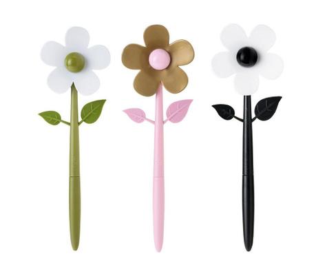 Σετ 3 μαγνητικά στυλό Flower
