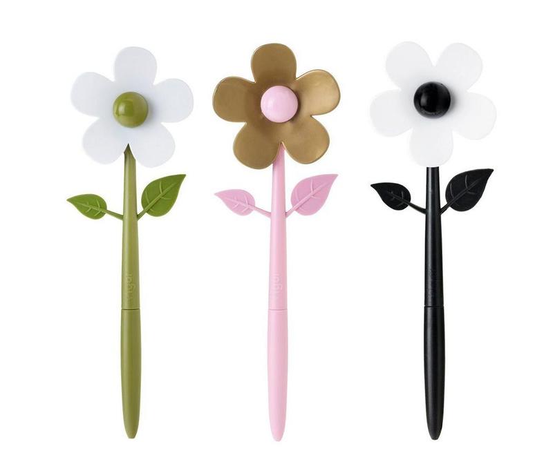 Set 3 pisal z magnetom Flower