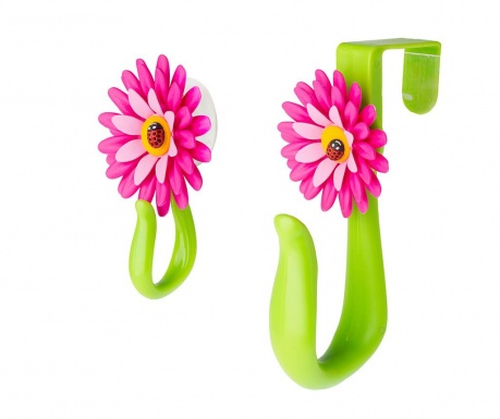 Σετ 2 κρεμάστρες Flower Power