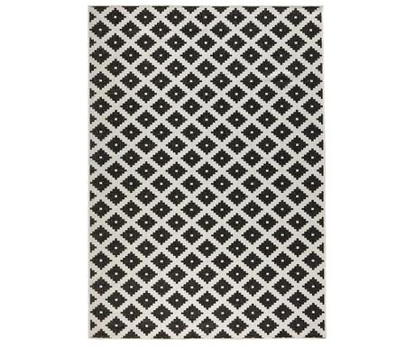 Venkovní koberec Reversible Twin Cross Black