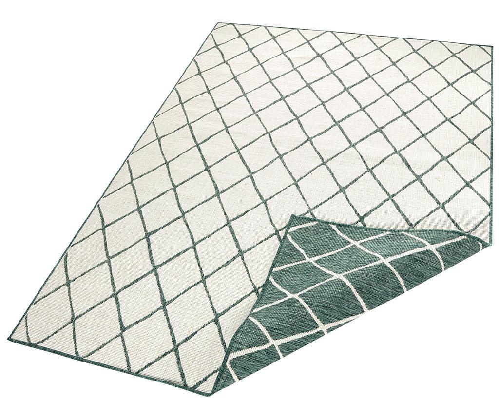 Obojestranska preproga Twin Malaga Green Cream 160x230 cm