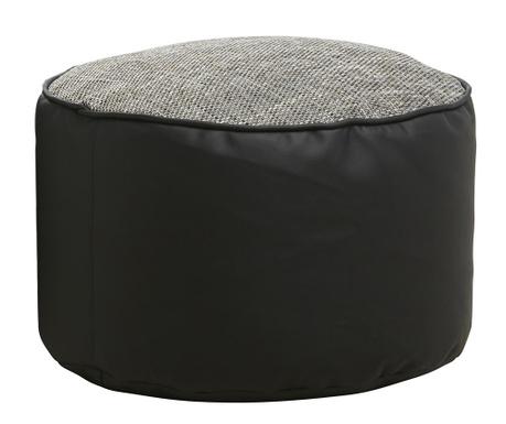 Puf Minadra Round Black Grey