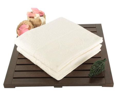 Pastel Paisley Ecru 2 db Fürdőszobai törölköző