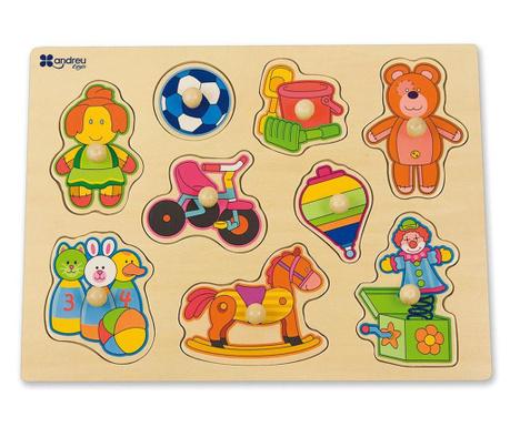 Joc tip puzzle 9 piese Hello Little