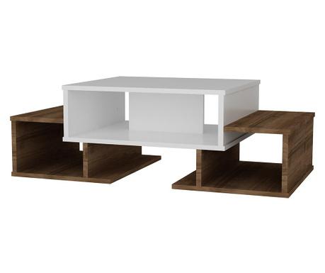 Konferenční stolek Sarafina White Brown