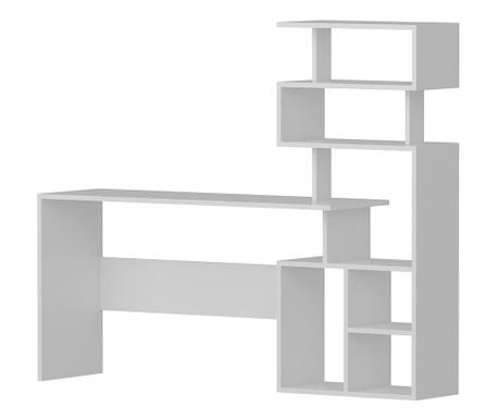 Stôl s knižnicou Next White