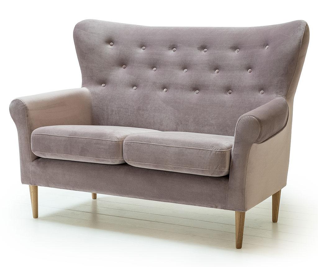 Canapea 2 locuri Amelie Powder Pink