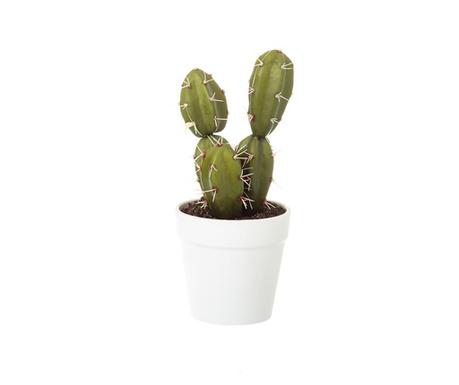 Posuda  s  umjetnom biljkom Cactus Two