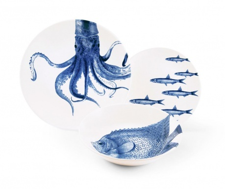 3-dijelni servis za jelo Flore et Faune Ocean