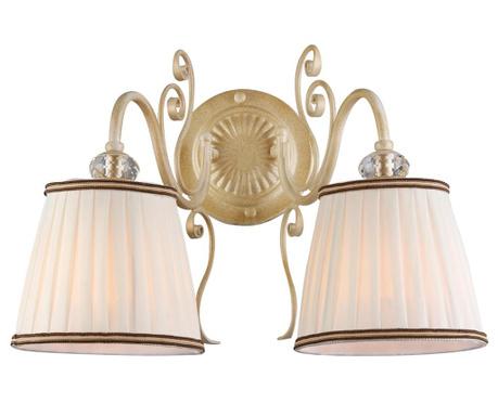 Vintage Two White Gold Fali lámpa