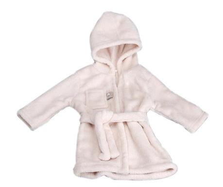Dziecięcy szlafrok kąpielowy Gown Cream 12 mies.