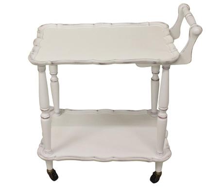 Servirni voziček Theodora Antique White
