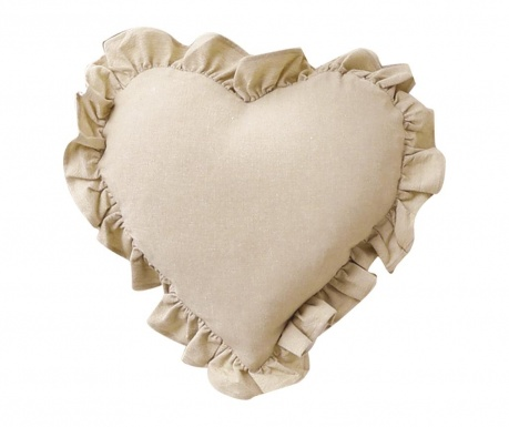 Perna decorativa Veronique Heart Beige 40x40 cm