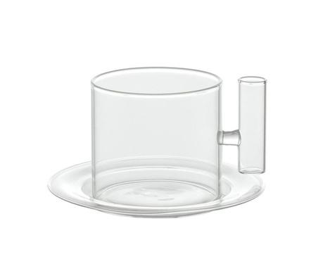 Комплект чашка и чинийка Borosilicate