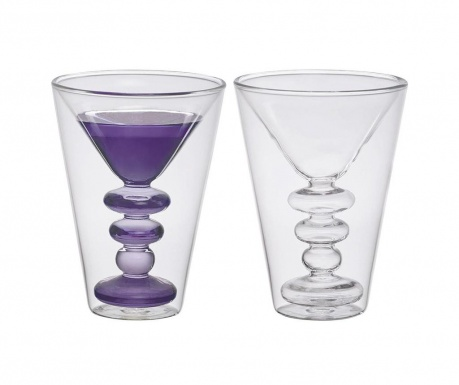 Set 2 čaše za martini Borosilicate 200 ml