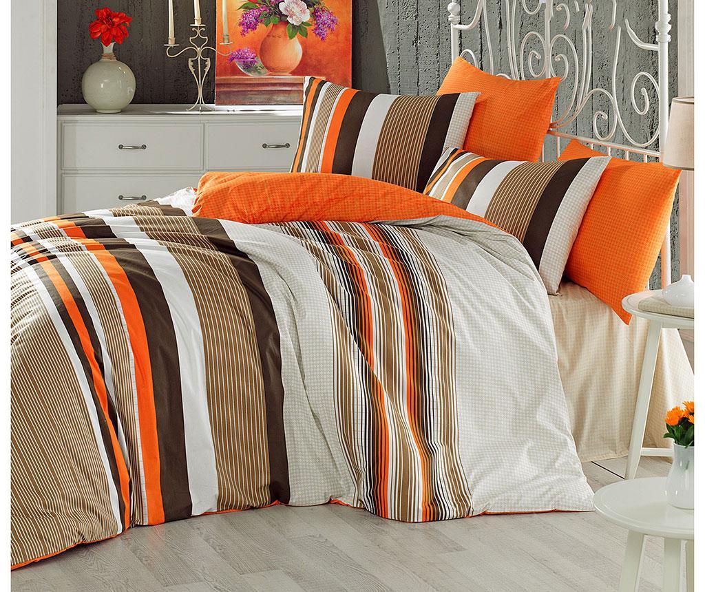 Lenjerie de pat King Ranforce Touch Orange